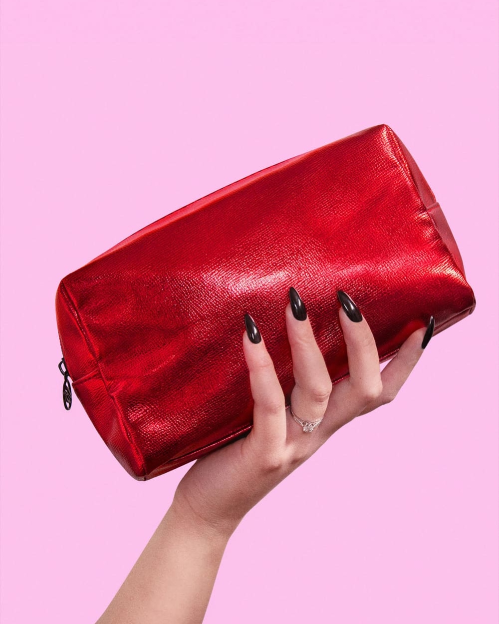 Ruby Red Dwarf Vegan Leather Makeup Bag | Cosmic Brushes