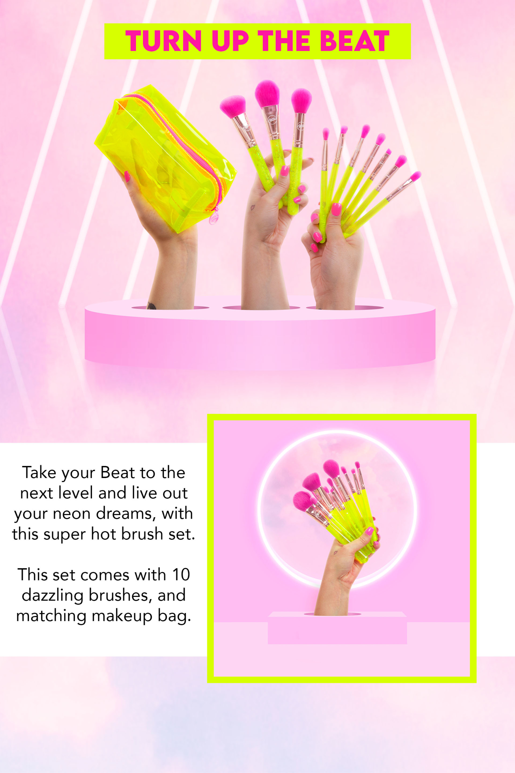 Neon Makeup Brushes