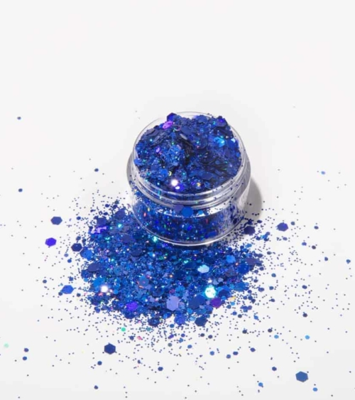 Holographic blue glitter