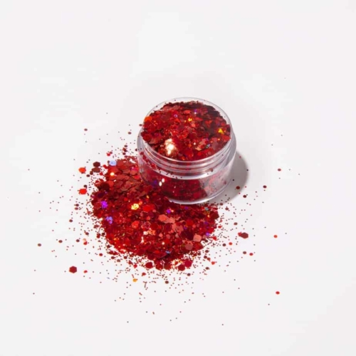 Ruby Red loose glitter
